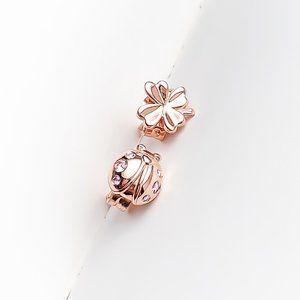 Clover and Ladybird Stud Earrings